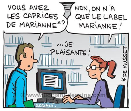 label Marianne