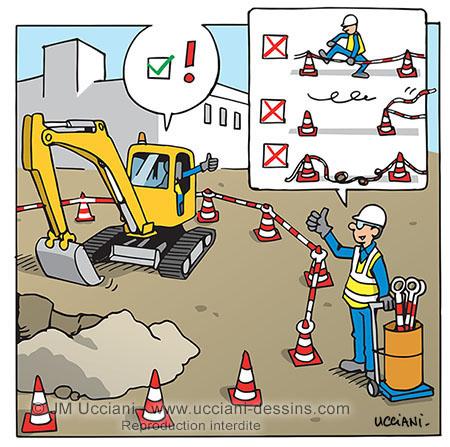 Lisses de balisage rigides sur les chantiers