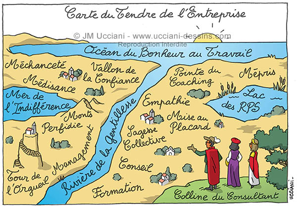 Carte du Tendre en entreprise.