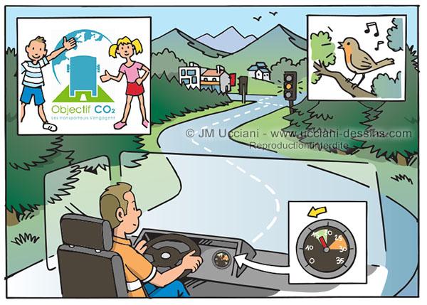 Éco-conduite chauffeurs camions
