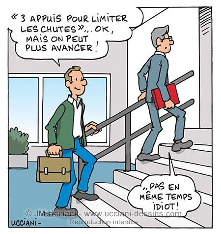 prévention des chutes dans les escaliers