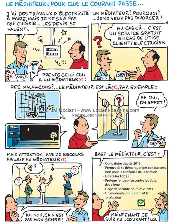 Médiateur pour artisans électriciens