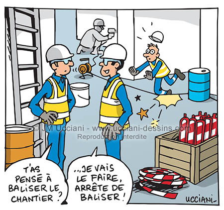 Balisage de chantier