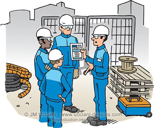 réunion de chantier sécurité