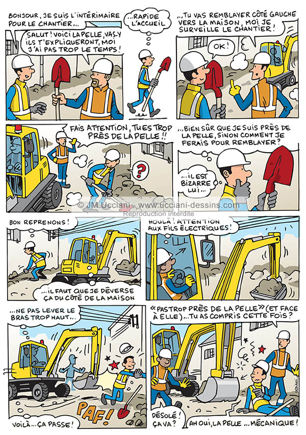 Accident du travail sur chantier