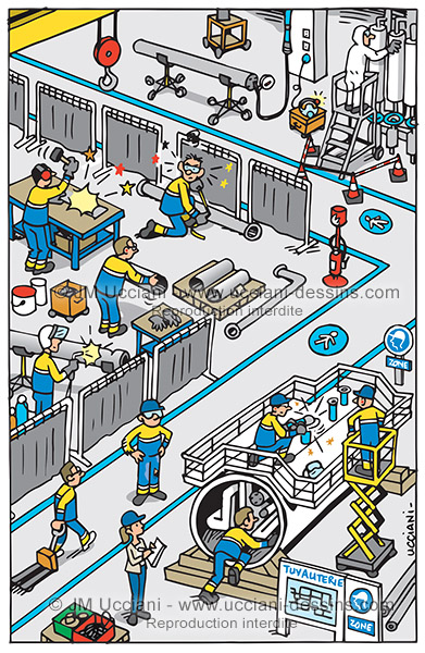 Chasse aux risques en atelier tuyauterie