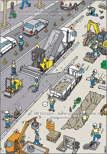 Chasse aux risques sur les chantiers routiers