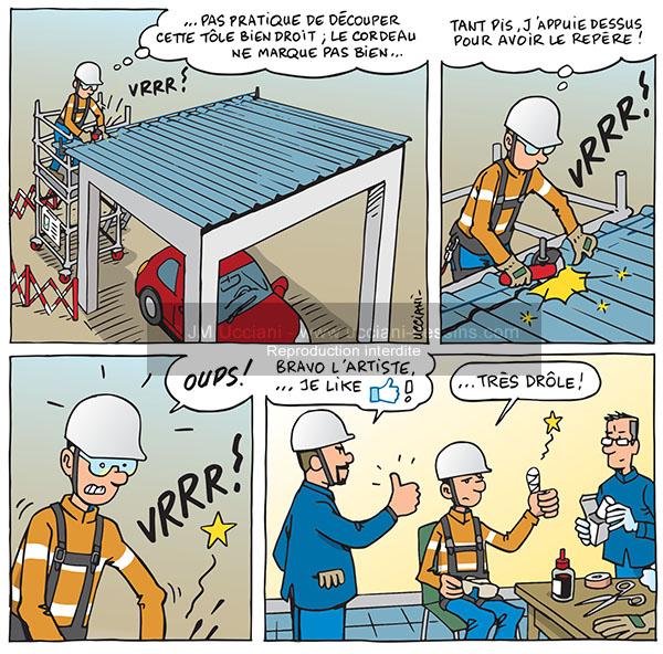 accident du travail en bande dessinés